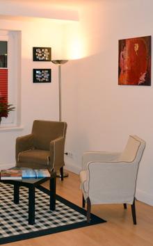 Das Wartezimmer der Praxis - Zahnarzt Barmbek